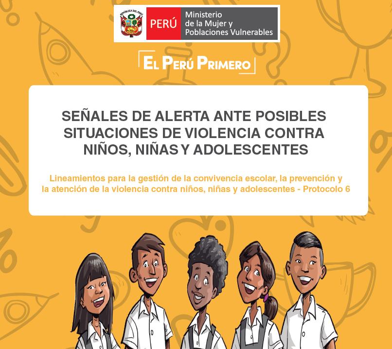 Señales de Alerta ante posibles situaciones de violencia contra niños, niñas y adolescentes